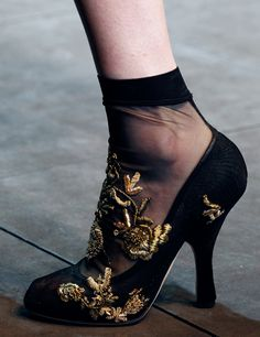 Dolce  Gabbana Fashion Show Winter 2013 - Shoe Details