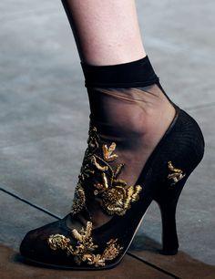 Dolce  Gabbana Fashion Show Winter 2013 - Shoe Details