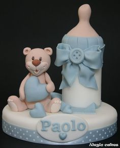 Baby bear topper - by Alegiocakes @ CakesDecor.com - cake decorating website