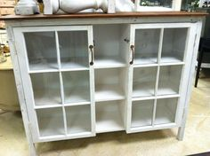 Love this cabinet made with old windows