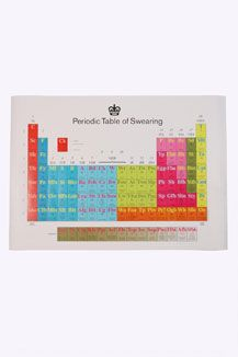 Periodic Table Of Swearing (in British English) by Modern Toss