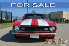 1968 Camaro, 350 Crate Motor with Aluminum Heads, 700R4 Automatic Transmission, Detailed, Frame-Off Restoration, Power Steering, Power Front and Rear Disc Brakes, Vintage Air Conditioning, New Fully-Restored, Beautiful Red Interior, Bucket Seats with Console and Staple Shifter. Fully Painted Body Color Undercarriage. Show quality but could also be a great driver. 1968 Camaro, Chevrolet Camaro, Crate Motors, Vintage Air, Bucket Seats, Red Interiors, Automatic Transmission, Fine Motor, Big Boys