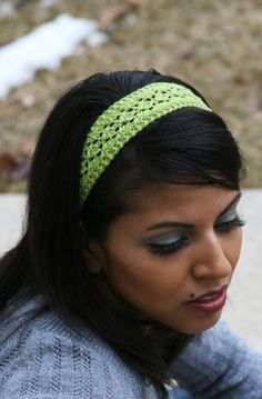 pretty loom knit headband