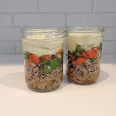 I love Shepherd's Pie, but I was looking for an easy way to recreate that flavor that could be made ahead and would travel well. These mason jar meals do the trick. Imagine my delight