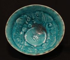 """Kashan Moulded Lustre Bowl - AMD.159 Origin: Central Asia Circa: 1200 AD to 1300 AD Dimensions: 2.5"""" (6.4cm) high x 4.8"""" (12.2cm) wide C..."""