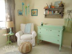 coastal theme nursery design reveal, bedroom ideas, home decor