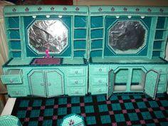 Completed 1991 Barbie Ken Beauty Salon Plastic Canvas Fashion Doll Dollhouse | eBay