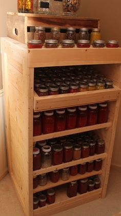 Canning pantry from pallet wood