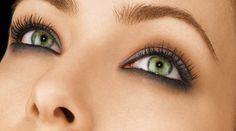 maquiagem olhos verdes, sombras preto e marrom