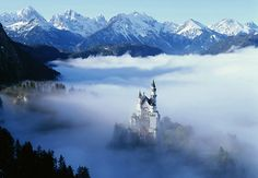 Neuschwanstein Castle , Bavaria , Germany  It is the typical fairytale castle