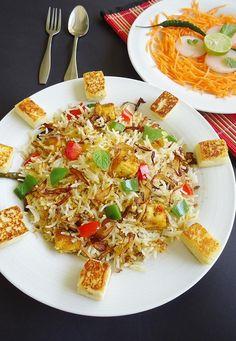 Paneer biryani recipe - How to make paneer biryani recipe
