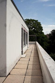 Upper terrace, parent's bedroom to the left