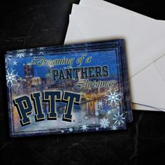 Pitt Panthers Dreaming Christmas Cards 5 Pack