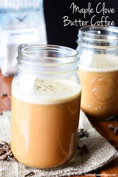 """Maple Clove Butter Coffee - a sweet and creamy """"latte"""" for autumn 