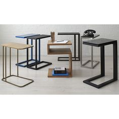 """Shop Avenue Black C Table. Form and function converge in a clever """"C"""" table that tucks a streamlined surface over sofa, chair or chaise, offering a handy side spot for snacks and computing. C Table, Sofa Side Table, End Tables, Coffee Tables, Unique Furniture, Custom Furniture, Furniture Decor, Furniture Design, Chaise Snack"""