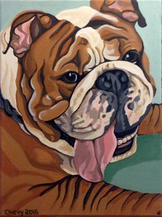 Custom Pet Portrait, Pet Painting, Dog Portrait, Hand painted in Acrylics, From Photograph, Pet Lover Gift, Memorial Pet Portrait by…