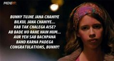 45 Things 'Yeh Jawaani Hai Deewani' Taught Us About Love, Life & Friendships Best Movie Dialogues, Famous Dialogues, Movie Love Quotes, Pretty Quotes, Yjhd Quotes, Filmy Quotes, Caption Lyrics, Song Lyric Quotes, Song Lyrics