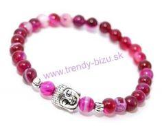 BUDDHA náramok silver ružový achát Buddha, Beaded Bracelets, Silver, Jewelry, Fashion, Moda, Jewlery, Jewerly, Fashion Styles