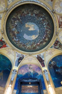 The Municipal House (Obecni Dum) ceiling, Prague (7) - Alphonse Mucha