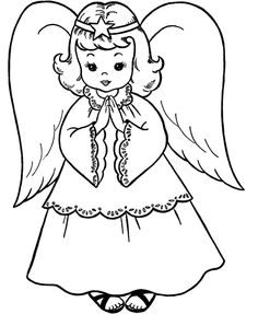 Pictures Christmas Angel Coloring For Kids