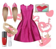 """""""Be My Valentines"""" by catdancestar ❤ liked on Polyvore featuring FOSSIL, ASOS, Betsey Johnson, HoneyBee Gardens and Lancôme"""