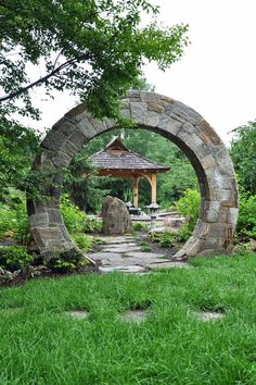 asian landscape by McHale Landscape Design, Inc - Moon Gate reminds of stargate. Asian Garden, Chinese Garden, Amazing Gardens, Beautiful Gardens, Garden Gates And Fencing, Fence Gates, Arch Gate, Asian Landscape, Japanese Landscape