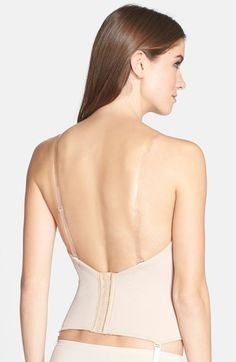 Low back strapless bustier by vabien 1508 dress for Low back bras wedding dress