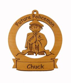 Future Policeman Ornament Personalized with by gclasergraphics, $9.95