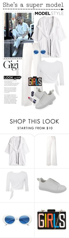 """GET THE LOOK !! GIGI HADID"" by shortyluv718 ❤ liked on Polyvore featuring Maybelline, Armani Jeans and Yoki"