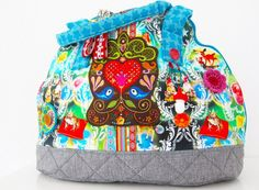 farbenmix-taschenspieler-3-bogentasche-bunte-tasche-selber-naehen-anleitung-schnittmuster Diaper Bag, Lunch Box, Bags, Couture, Fashion, Sew Simple, Travel Tote, Sachets, Sewing Patterns