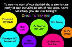 glow in dark party theme - Google Search