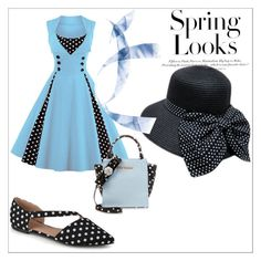 """""""Dapper Day: Polka Dots"""" by veronicah-1 on Polyvore featuring Betsey Johnson, Journee Collection and H&M"""