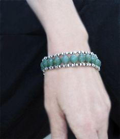 Green Bead Bracelet Aventurine Quartz and door JHeatonDesigns