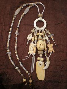 Shell Amulet Necklace by Maggie Zee (Maggie Zee) Tags: shaman amulet talisman maggiezee Tribal Jewelry, Boho Jewelry, Jewelry Crafts, Jewelry Art, Beaded Jewelry, Jewelery, Unique Jewelry, Jewelry Design, Bohemia Jewelry