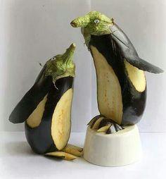 Eggplant art!