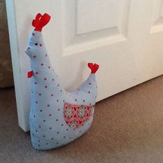 Doorstop Chicken, made from Debbie Shore's Half Yard Heaven book!: