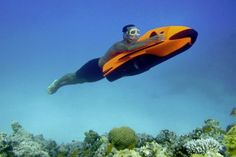 Cayago Seabob Underwater Jetski.  Just needs some side mirrors for the sharks that may be speeding up behind me!