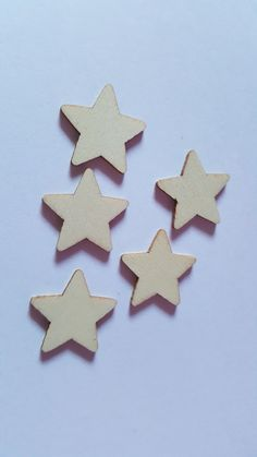 15 x Mini Blank Wooden Craft Shapes - 25mm - Star