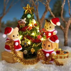 Christmas Mood, Family Christmas, Vintage Christmas, Christmas Crafts, Sylvania Families, Cumple Peppa Pig, Calico Critters Families, Miniture Things, Cute Dolls