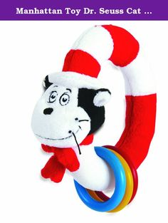 Manhattan Toy Dr. Seuss Cat in The Hat Take and Shake Ring Rattle and Teether Toy. The beloved Cat in the Hat by Dr. Seuss comes to life in this sensory rich, tactile development toy from Manhattan Toy. Featuring a hidden discovery flap and three colorful ring teether and rattles, baby will love exploring this ultra-soft Activity Cat in the Hat. The Dr. Seuss Collection by Manhattan Toy features a variety of toys and play patterns to complement this iconic, endearing brand. From soft toys…