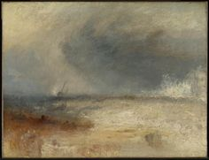 Artwork page for 'Waves Breaking on a Shore', Joseph Mallord William Turner, c.1835