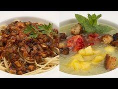 Espaguetis Con Berenjenas Gazpacho De Kiwi Y Melon Karlos