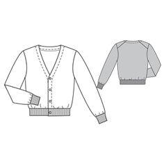 Free downloadable cardigan pattern.