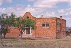 Ancho, NM-Coming of the railroad and discovery of gypsum in 1901 led to the beginning of Ancho. Clay was soon discovered and the Ancho Brick Plant started brick making. The plant grew to 16 kilns. Town schoolhouse pictured above. The company supplied several tons of bricks to help rebuild San Francisco after the famous 1906 earthquake. The plant ceased production in 1921 and the town slowly died.
