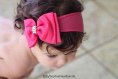 Pink Headband, Baby Bow Headband, Newborn Headband, Baby Girl Headband, Photography Prop, Big Bow Headband, Baby Headband, Bow headband