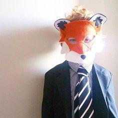Book week costume -fantastic mr fox - fox mask, fox costume - woodland party mask by Schooza, pattern by ebony shae