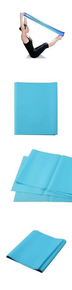 Sunward New Multi-grip Stretch Pilates Yoga Workout Aerobics Stretch Band Strap Belt Tensile Adjustable Elastic Band (Blue)