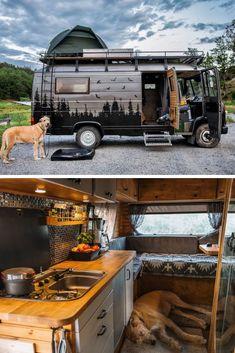 45 Cheap Beautiful Ideas For Your Camper Van Project - Van Life Small Camper Vans, Small Campers, Bus Camper, Camper Life, Rv Campers, Mercedes Camper Van, 4x4 Camper Van, Casas Trailer, Camping Car Van