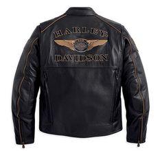 Harley Davidson Leather Coats   Harley-Davidson® Men's 110th Anniversary Leather Jacket 97145-13VM