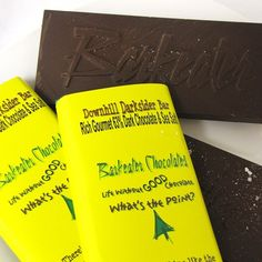 This decadent dark chocolate bar has coarse sea-salt throughout. It effortlessly blends a touch of sweet with a touch of salt. http://bit.ly/LOWr6E